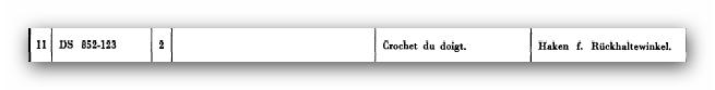 Haken für Rückhaltewinkel DS 852-123 (FILEminimizer)